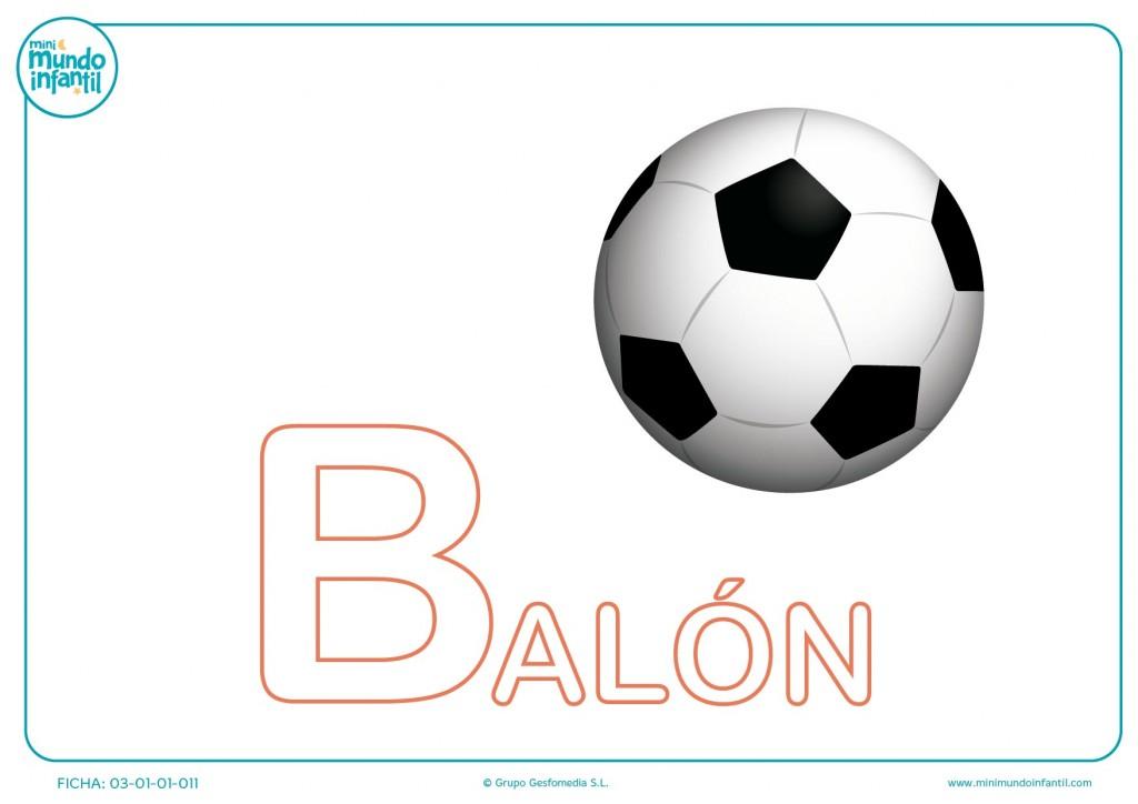 Rellenar letra B mayúscula de balón