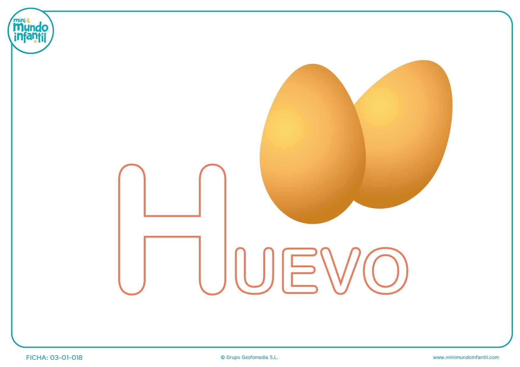 Completar la letra H mayúscula de huevo