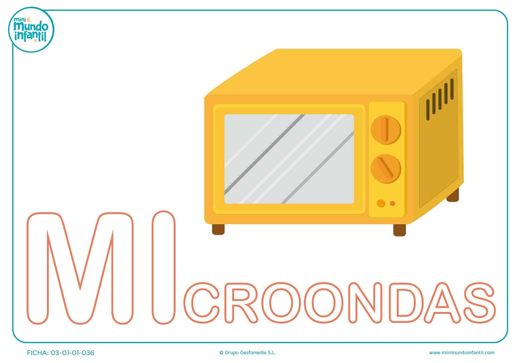 Sílaba MI mayúscula de microondas para pintar