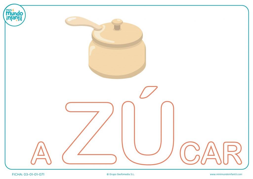 Completar sílaba ZU mayúscula de azúcar