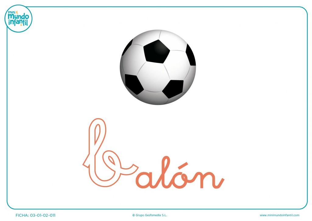 Colorear letra B minúscula de balón