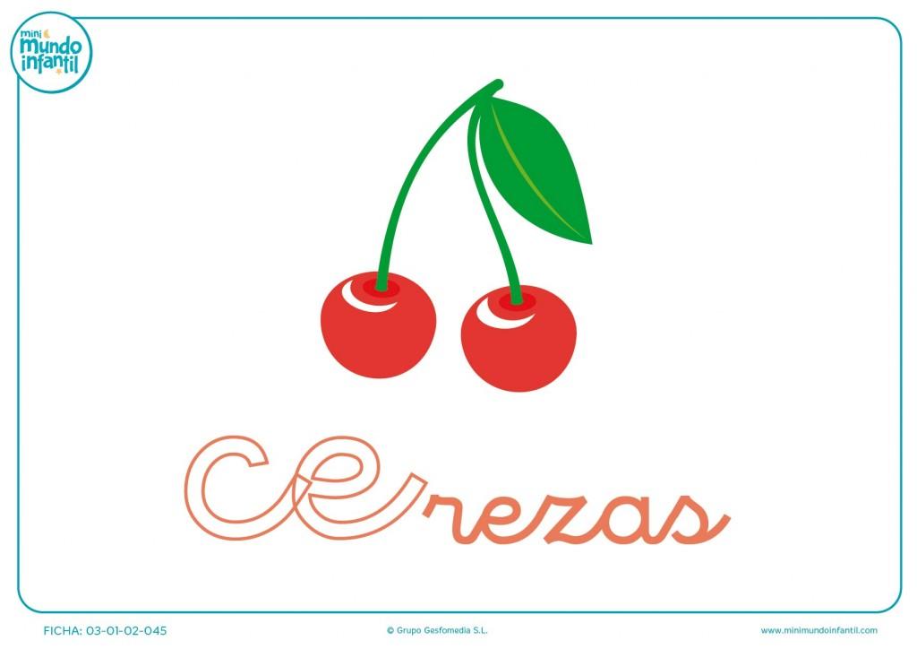 Completar sílaba CE minúscula de cerezas