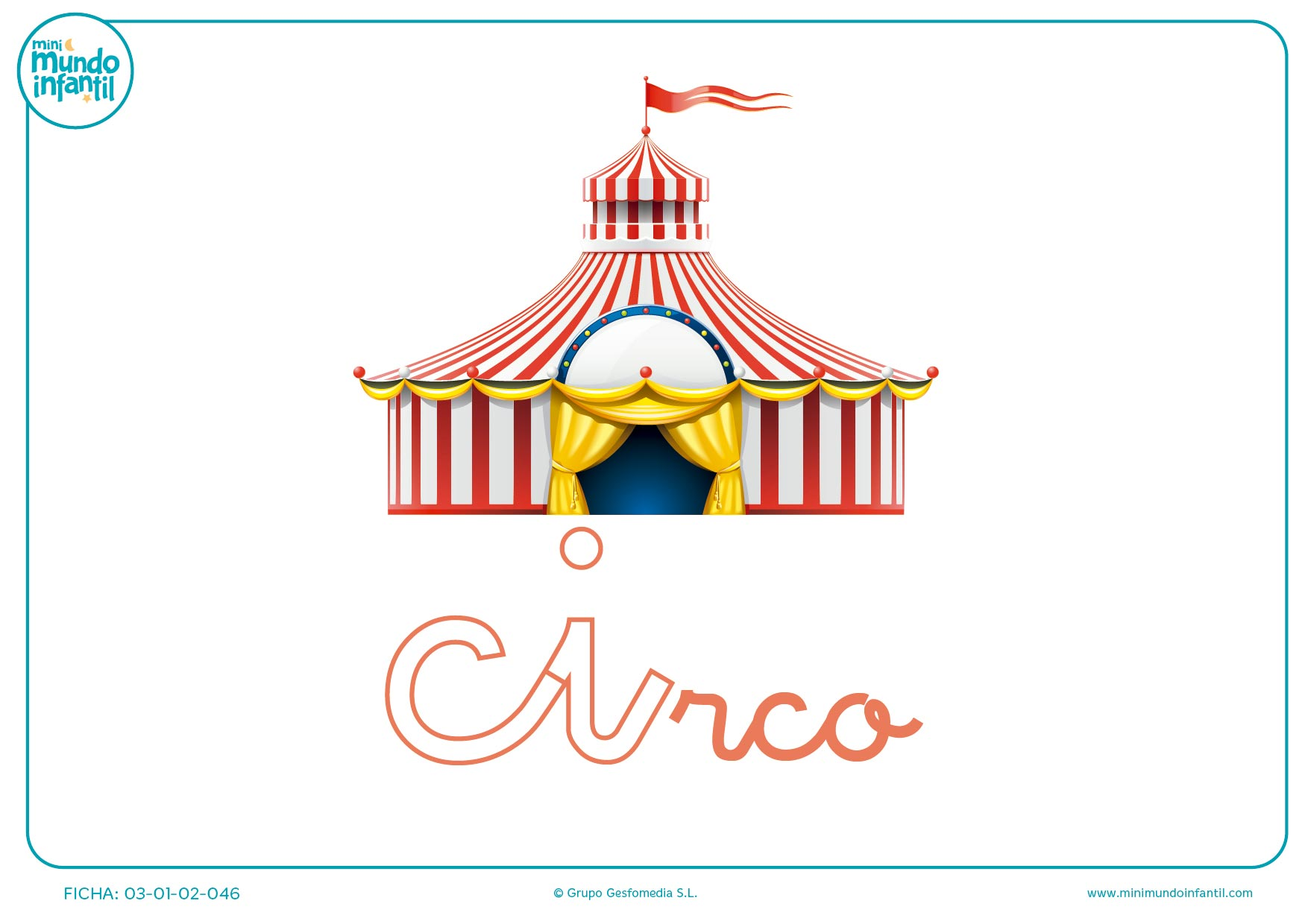 Pintar sílaba CI minúscula de circo