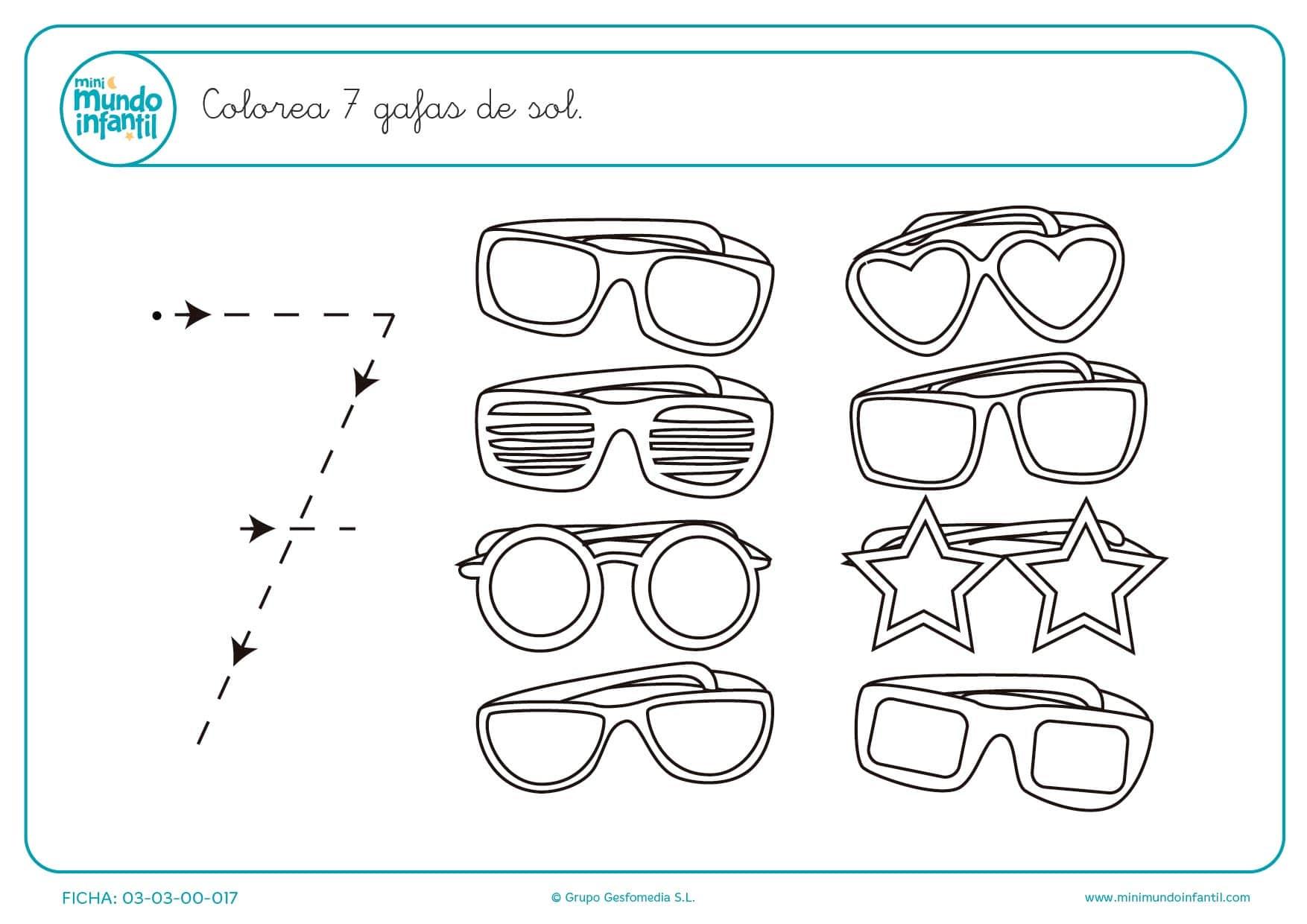 Pintar 7 Gafas De Sol Con Colores