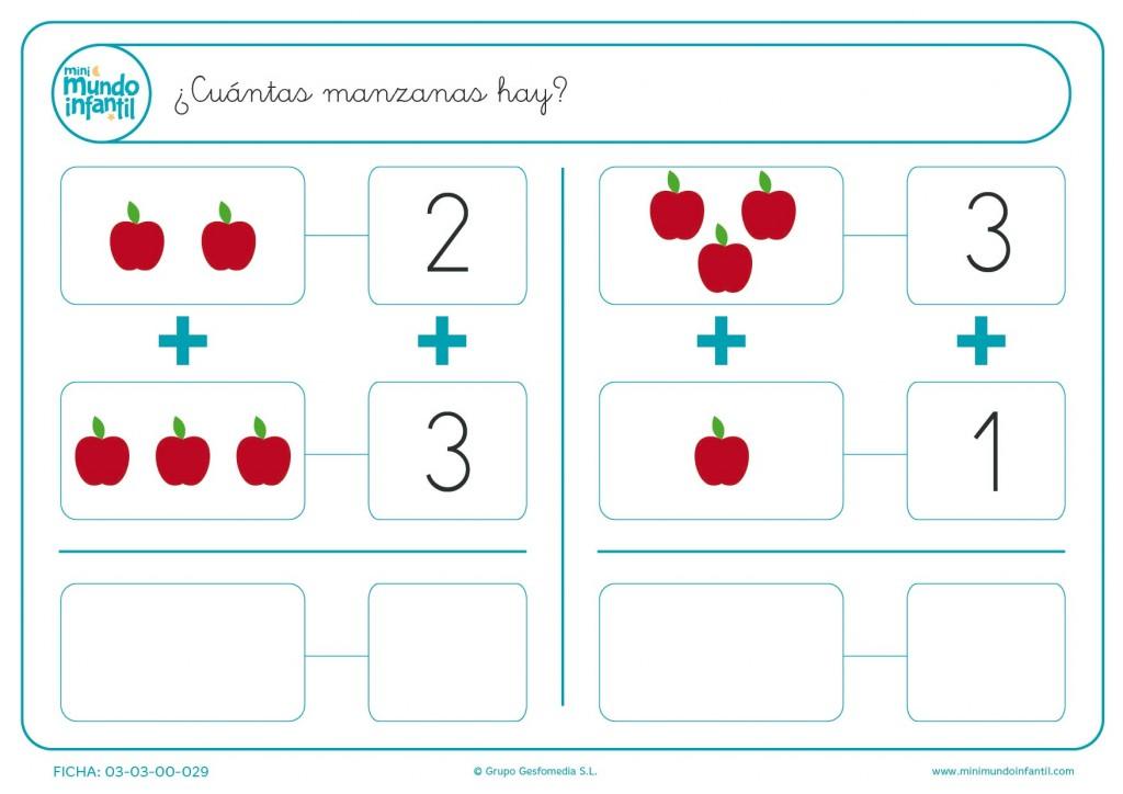 Calcular el número de manzanas rojas y apuntar los resultados