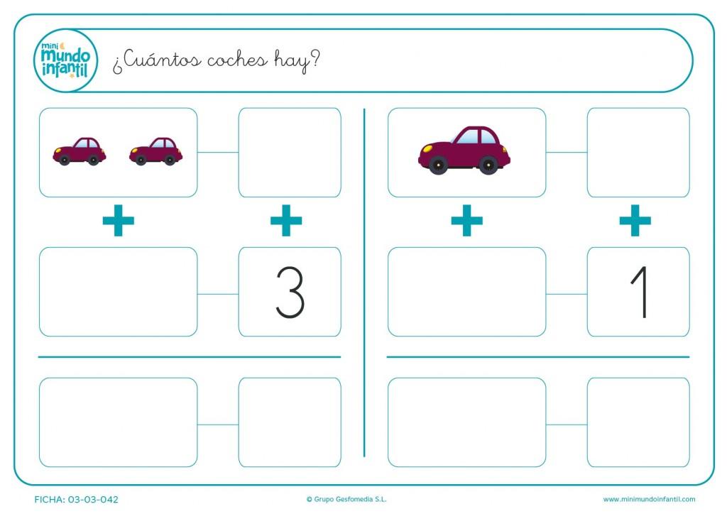 Contar el número de coches que hay y escribir el resultado