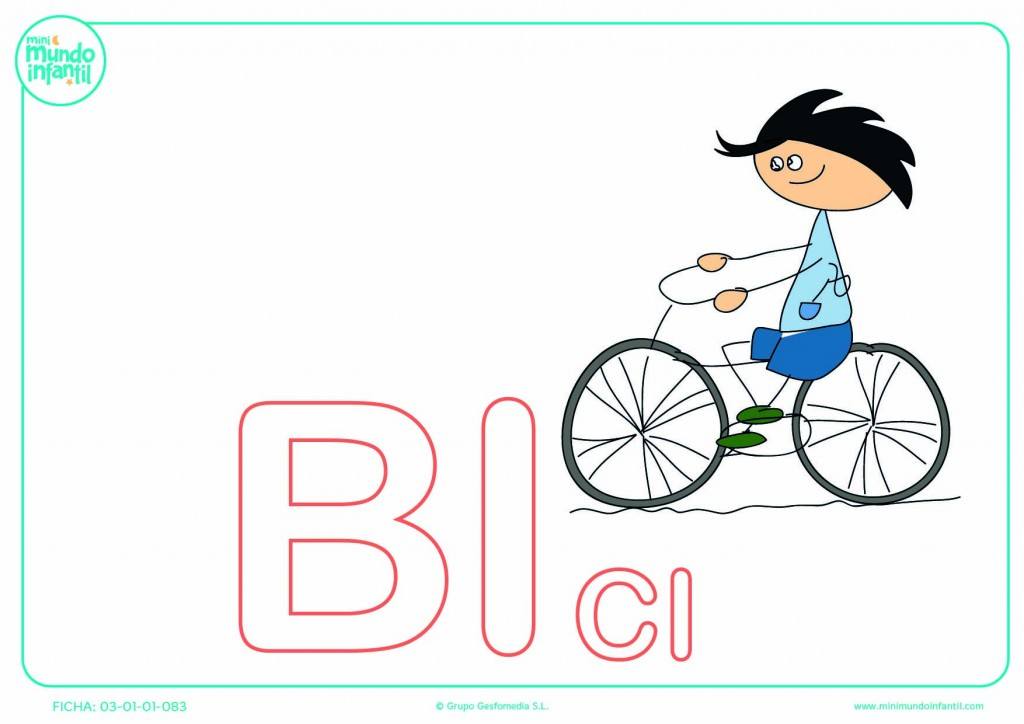 Completar la sílaba BI mayúscula de bici