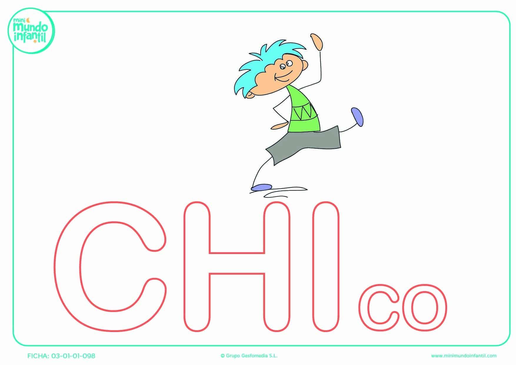 Rellenar la sílaba CHI mayúscula de chico