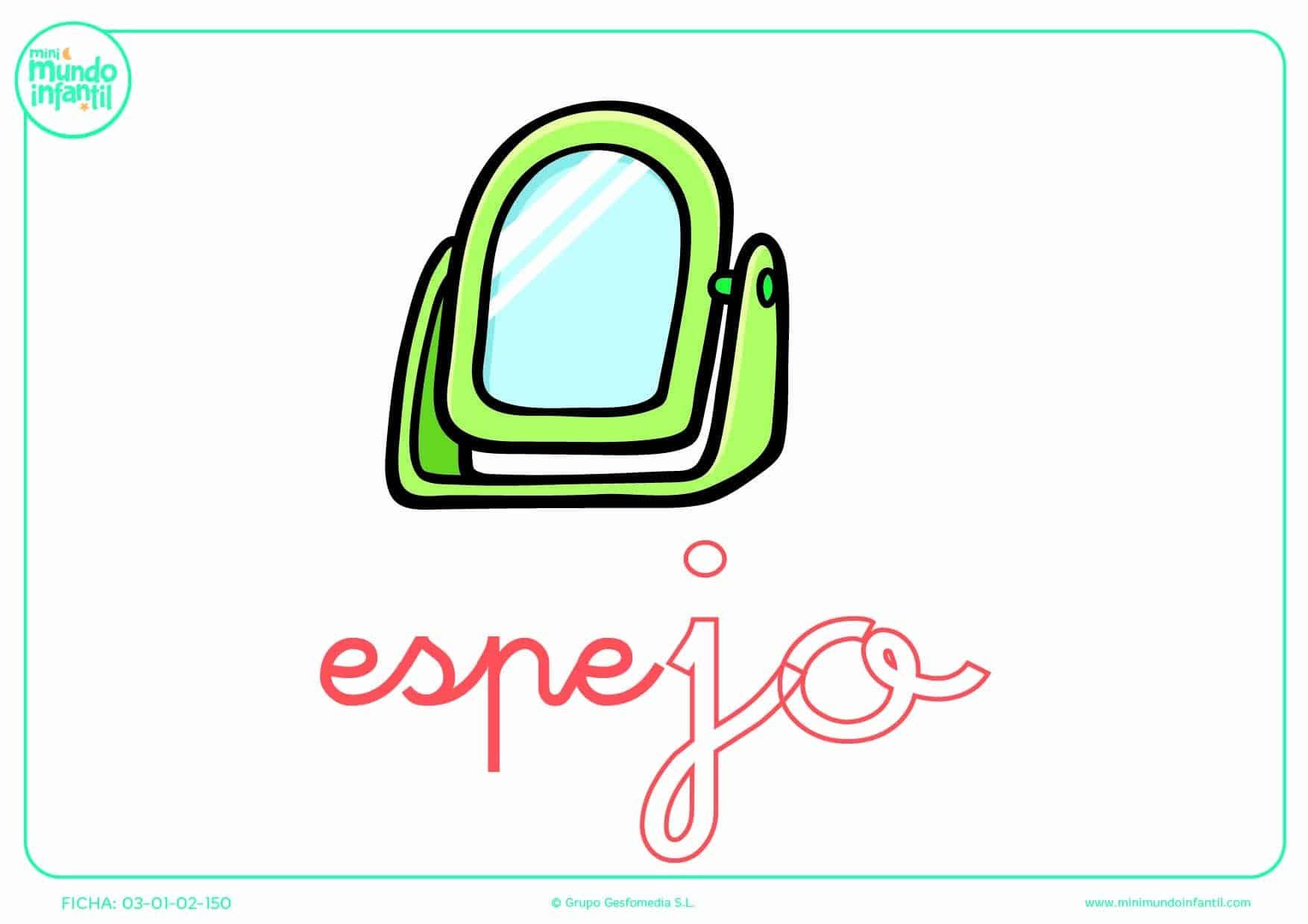 Colorear a la sílaba JO minúscula de espejo