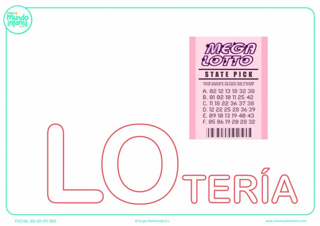 Pintar la sílaba LO mayúscula de lotería