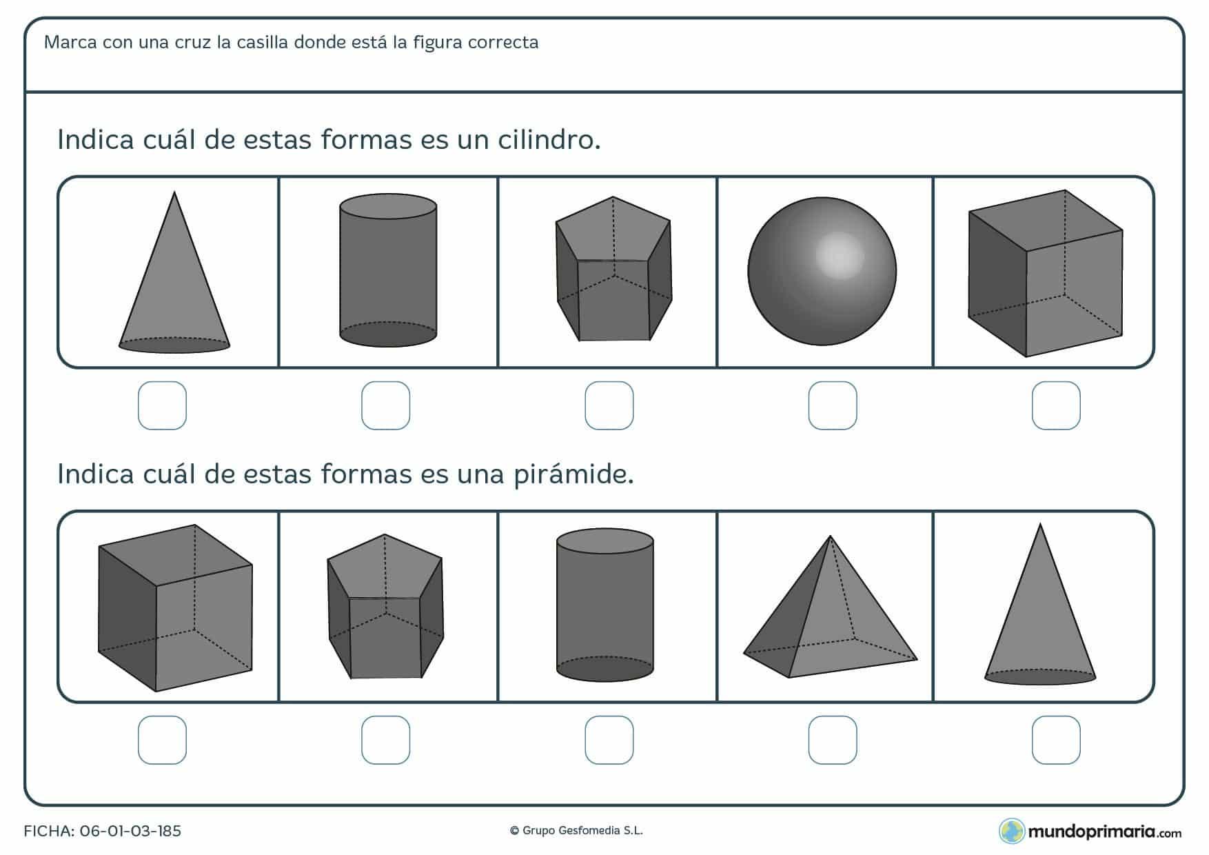 Geometría ejercicios cuarto primaria