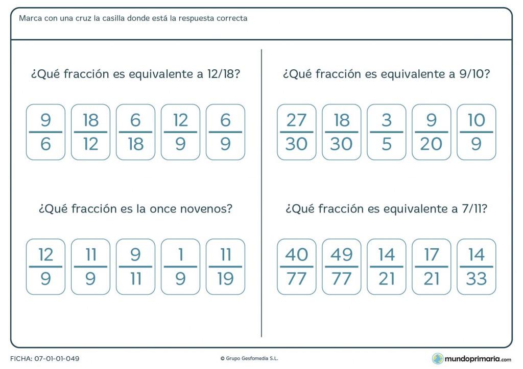 Ficha para aprender fracciones decimales para 5º curso de Primaria