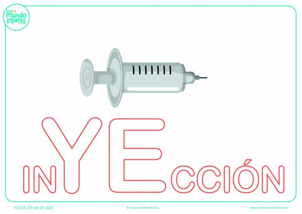 Poner color a la sílaba YE de inyección en mayúsculas