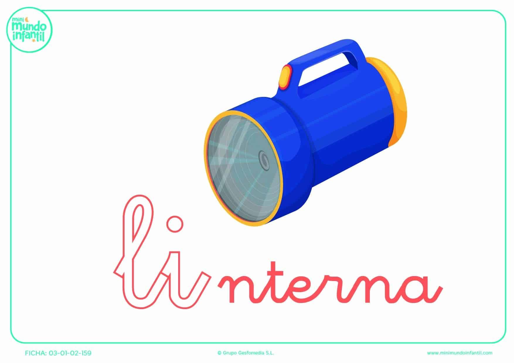 Poner color ala sílaba LI minúscula de linterna