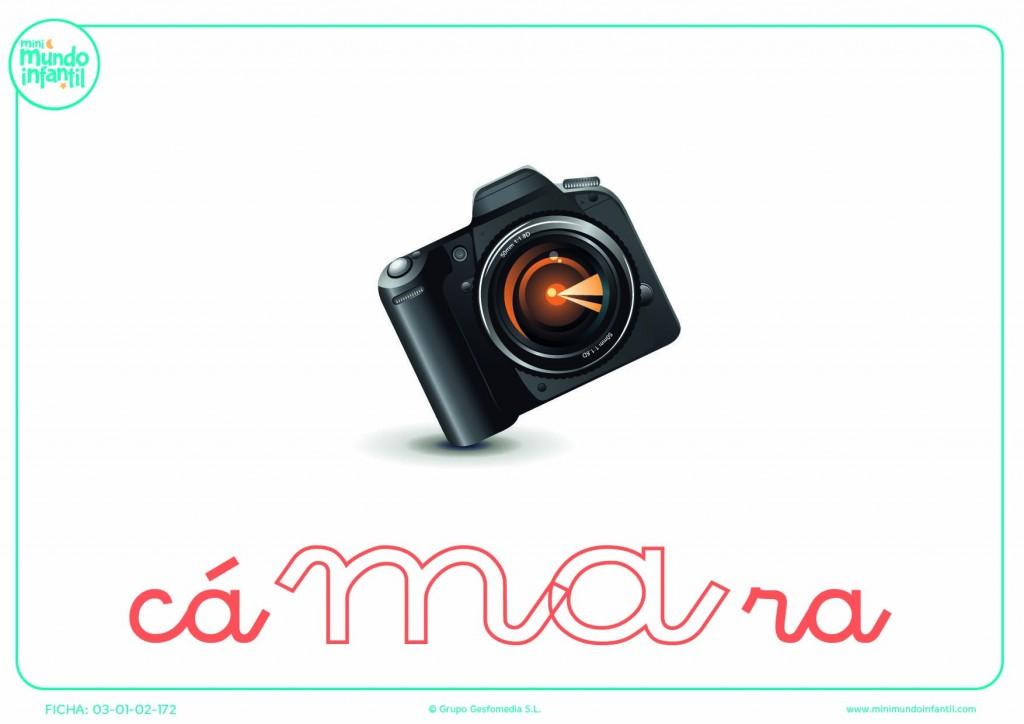Rellena la sílaba MA minúscula de cámara