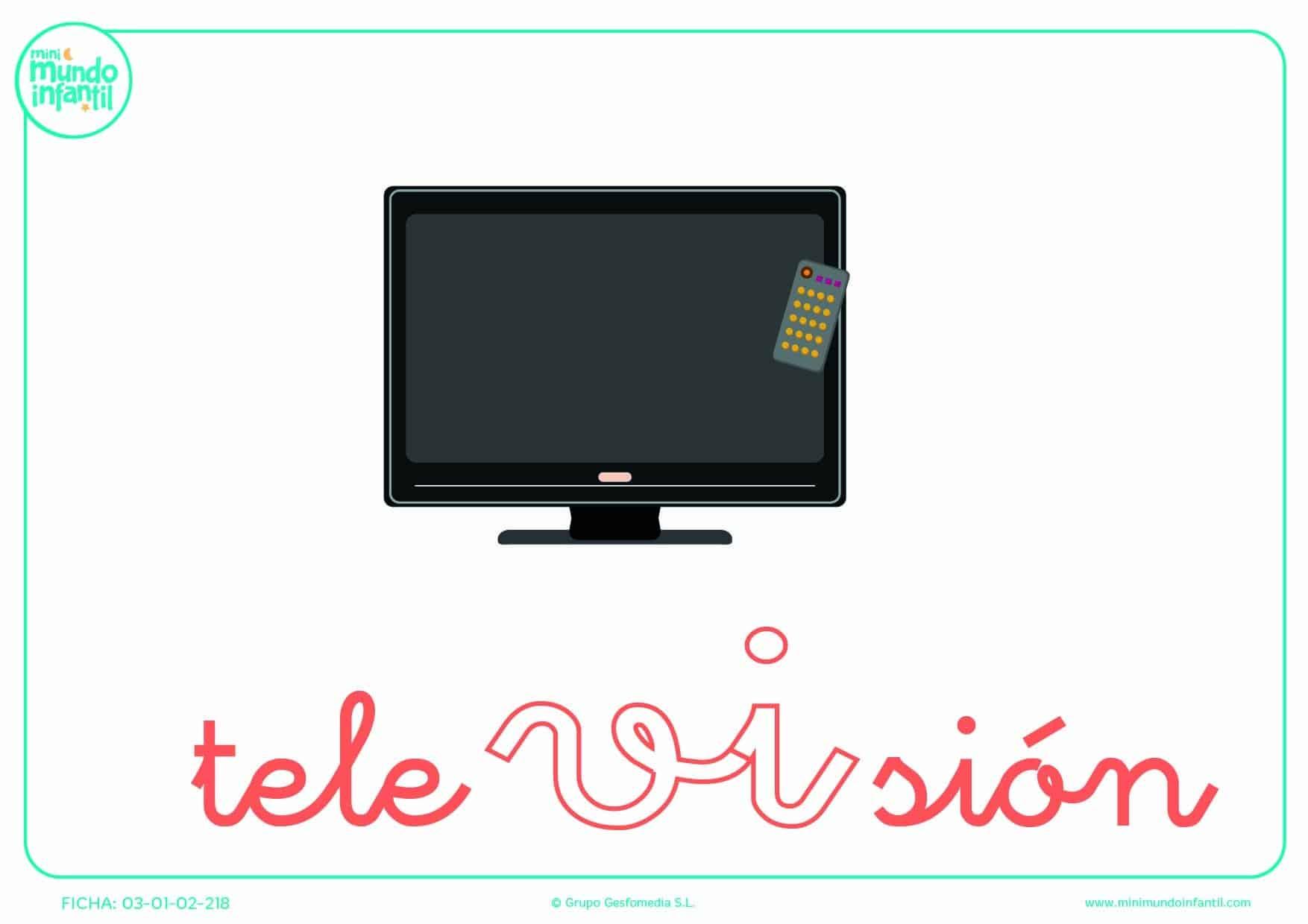 Rellenar la sílaba VI minúscula de televisión