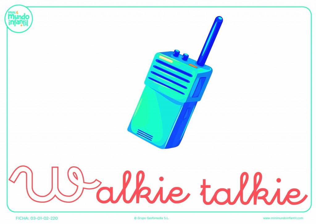 Rellenar letra W minúscula de walkie-talkie