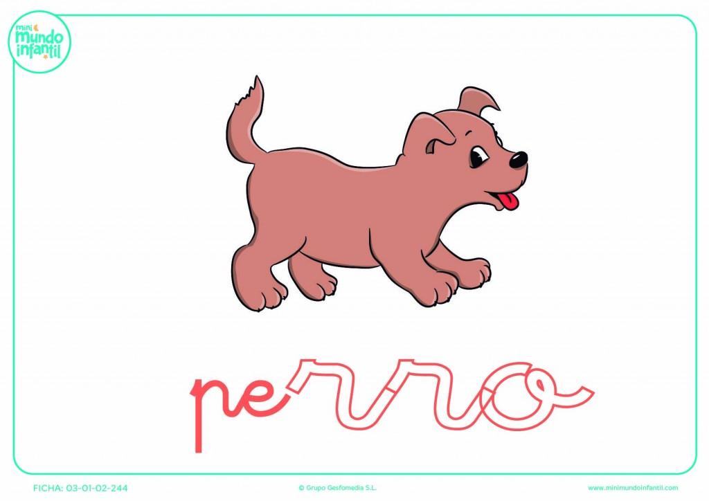 Sílaba RRO de perro en minúsculas para poner color