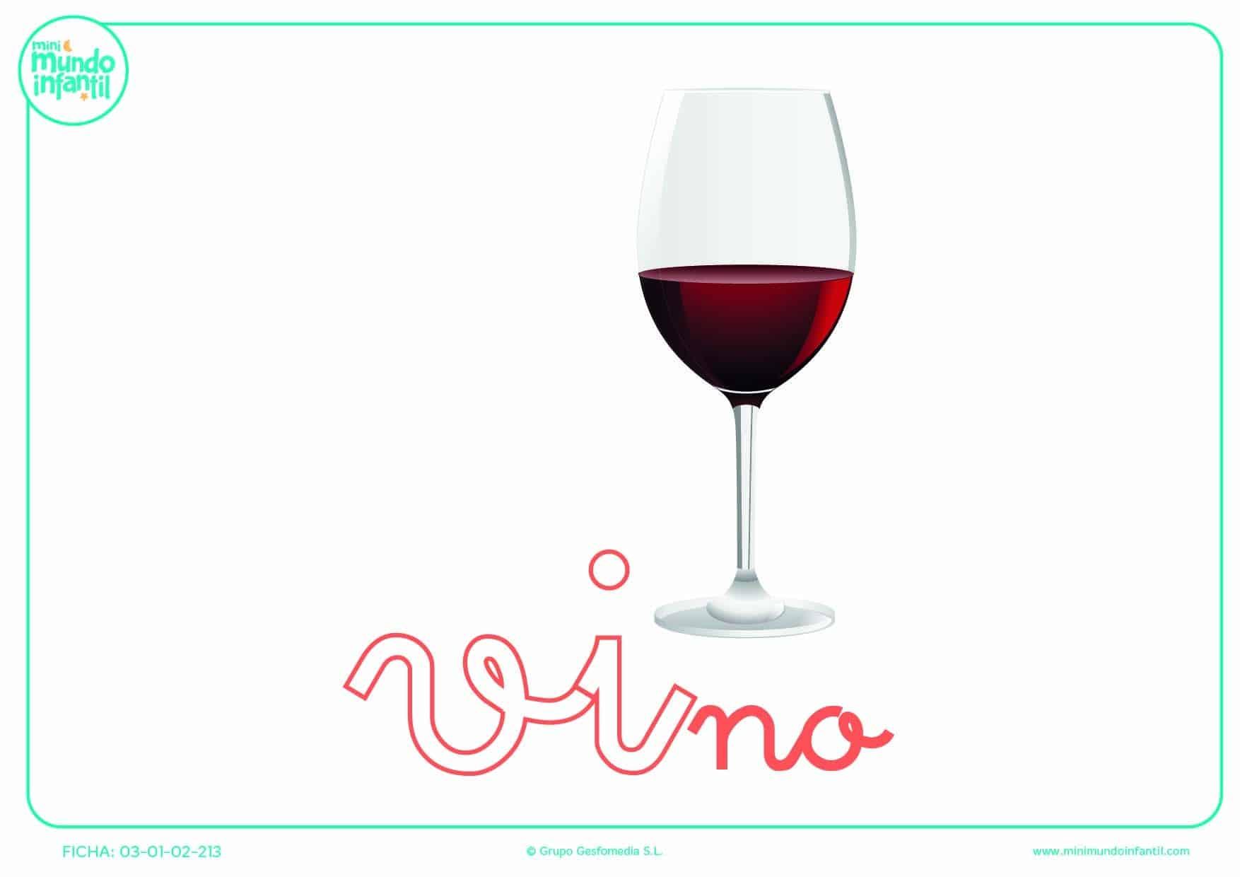 Sílaba VI de vino en minúsculas para completar