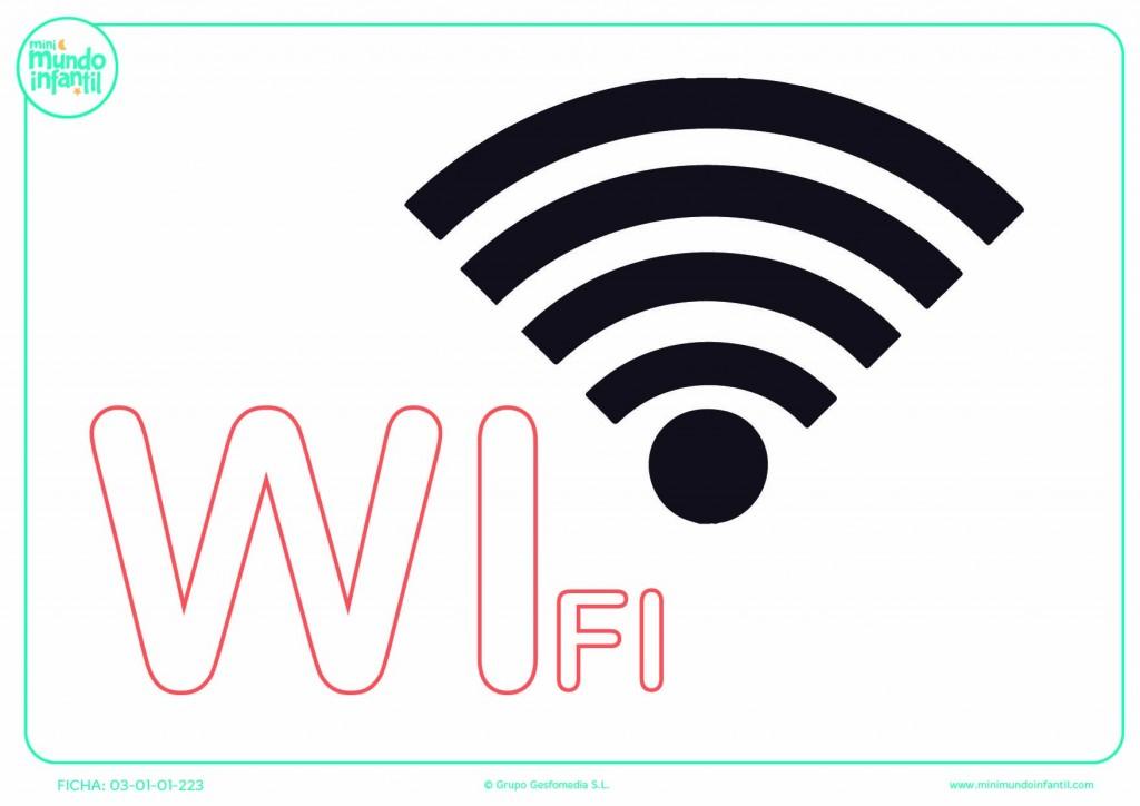 Sílaba WI mayúscula de wifi para rellenar