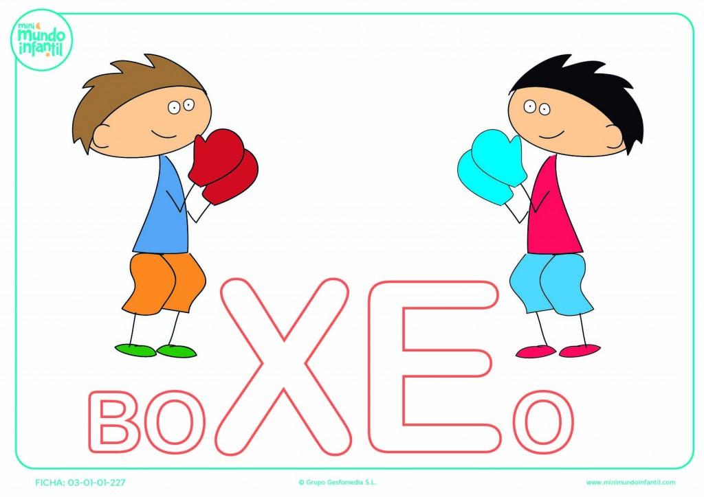 Sílaba XE mayúscula de boxeo para completar