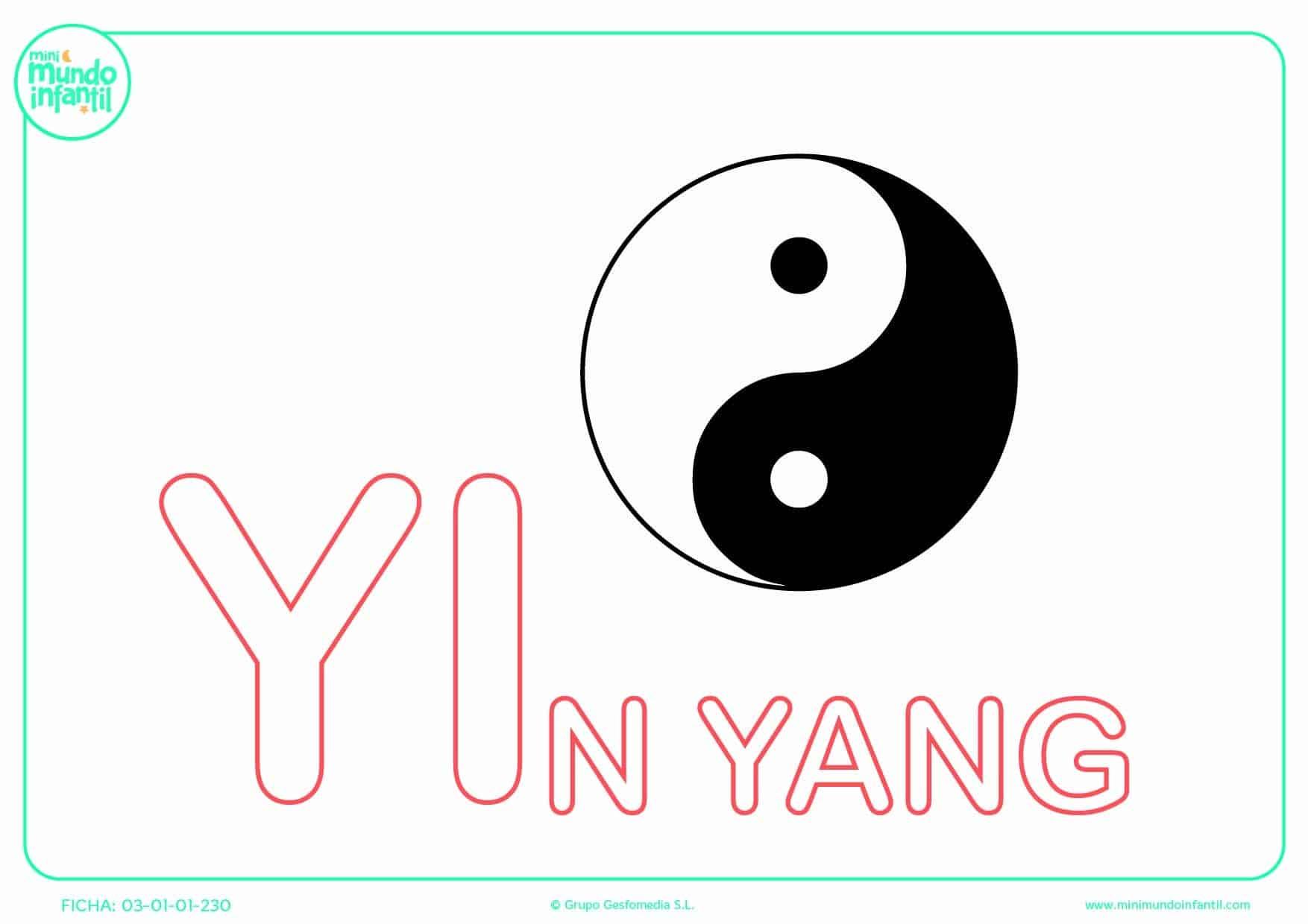 Sílaba YI mayúscula de yin yang para rellenar