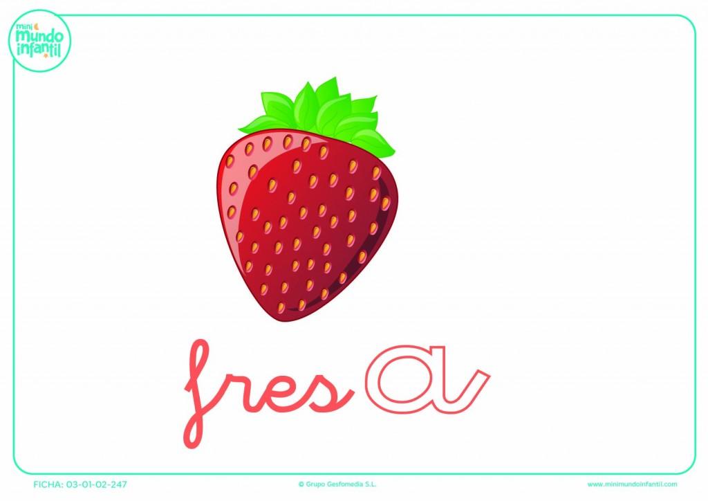 Letra A minúscula de fresa para colorear