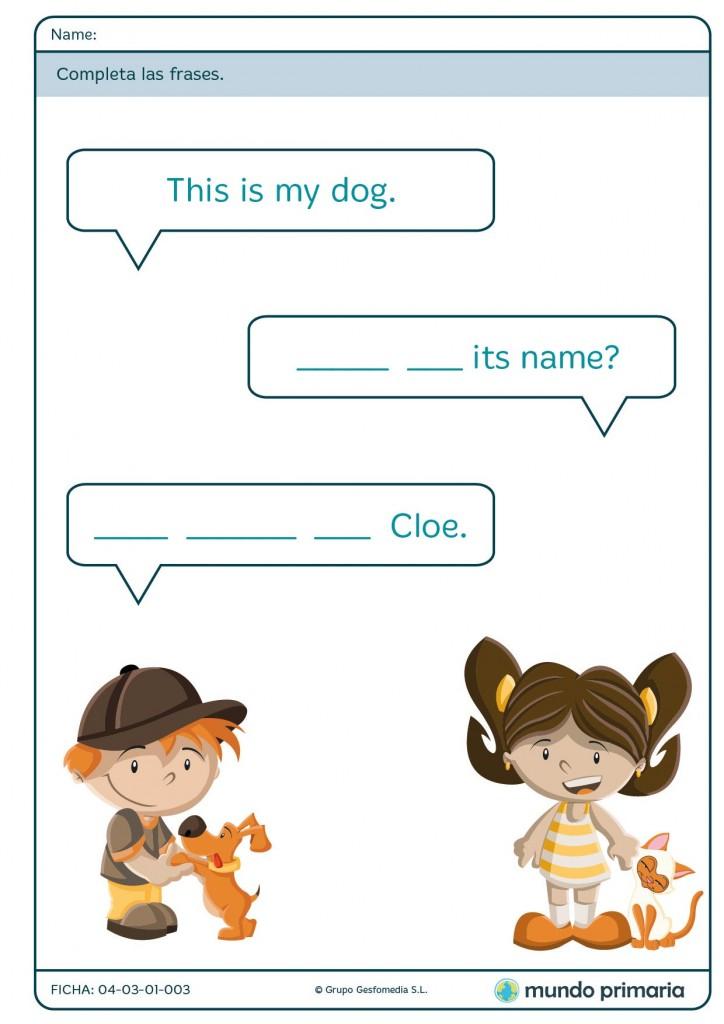 Ficha de terminar las frases de los bocadillos de los personajes