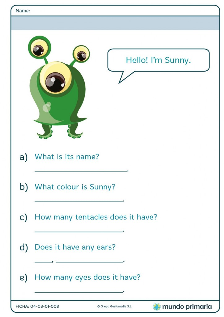 Answer these questions about the monster Marshall en inglés para 2º