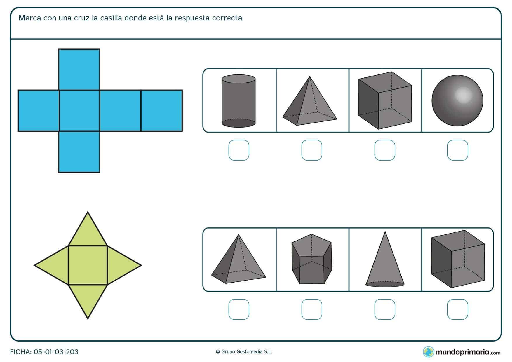 Ejercicios geometría para tercero primaria