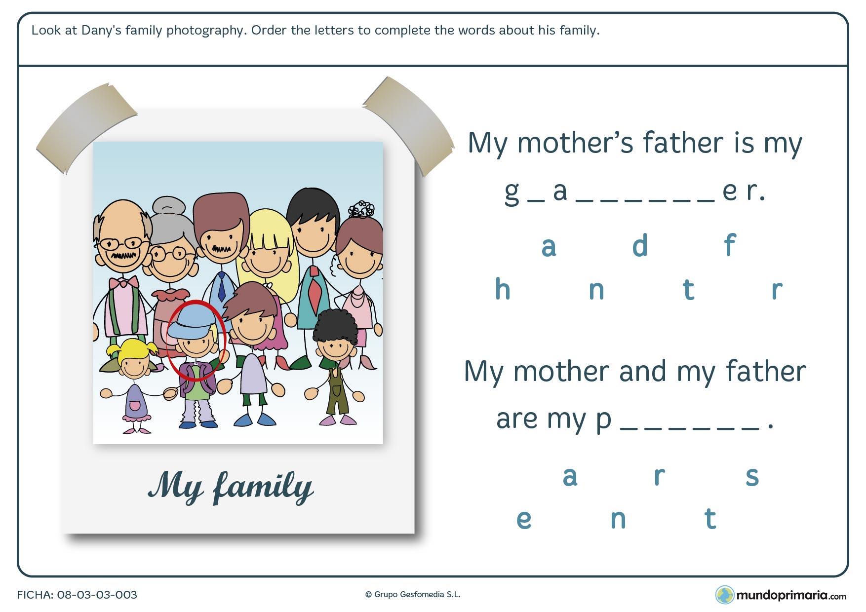 Ejercicios de INGLÉS para niños de primaria ➔ Para imprimir