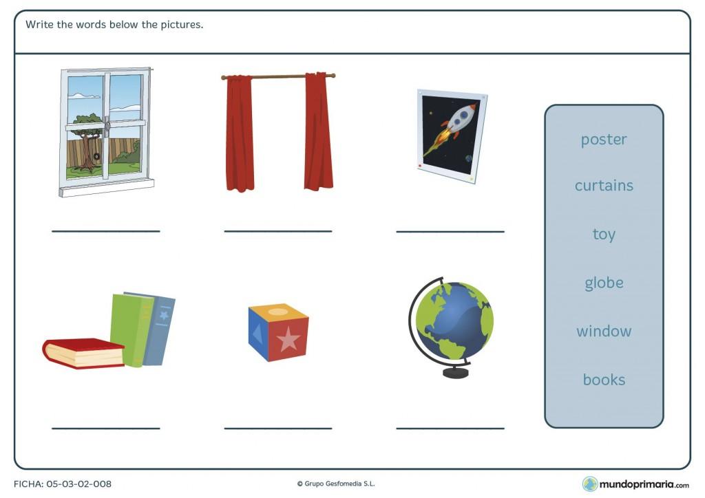 Ficha de elementos y decoración de la habitación