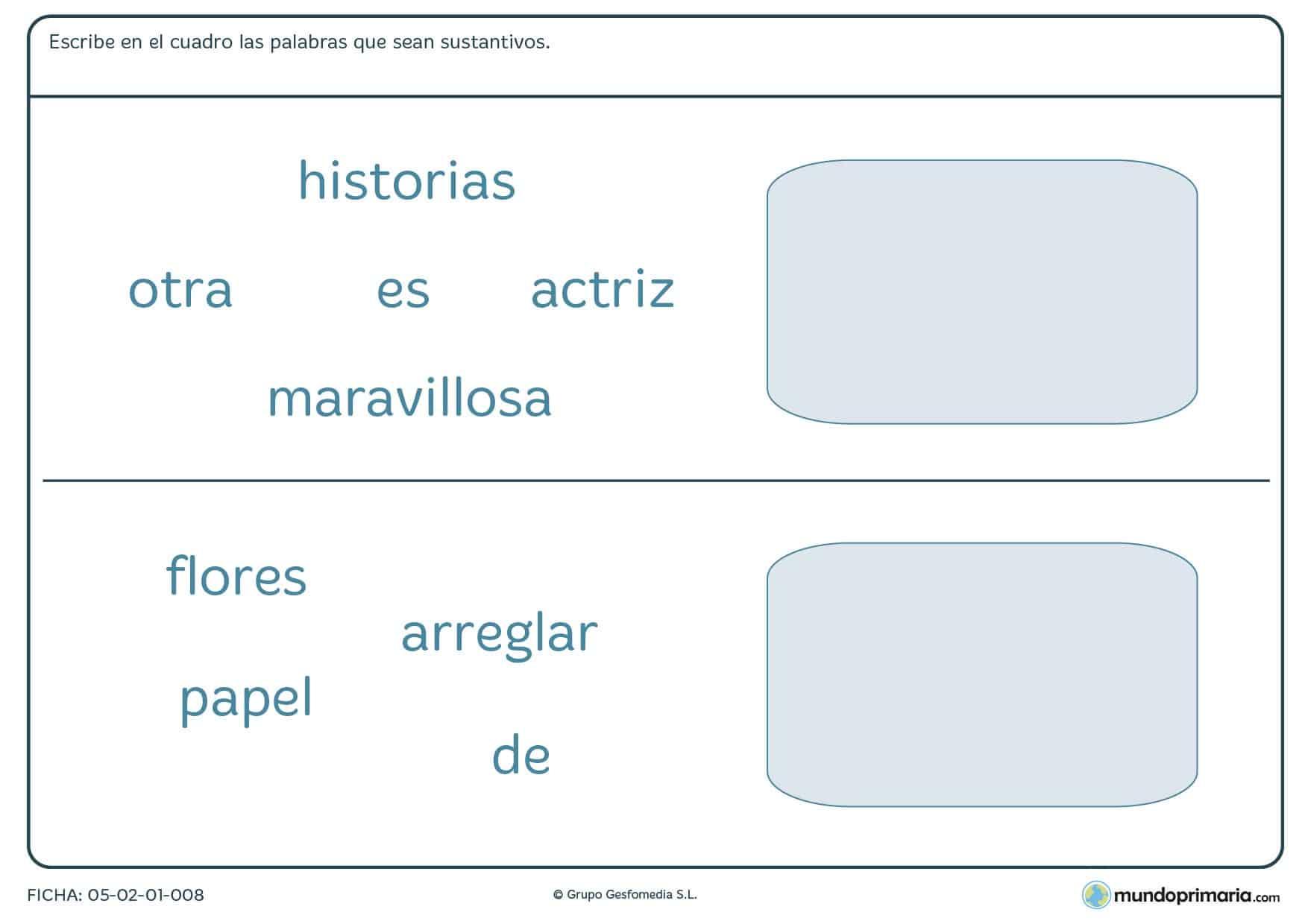 Gramática lengua ejercicios tercero primaria