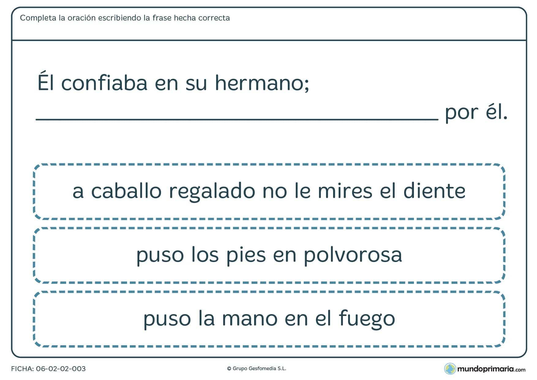 Ficha de lenguaje sobre refranes para alumnos de 4º de Primaria