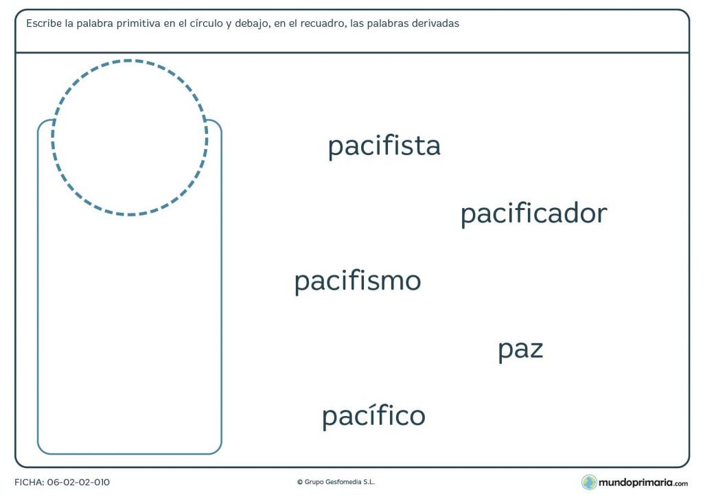 Ficha de lenguaje de derivadas para alumnos de educación primaria
