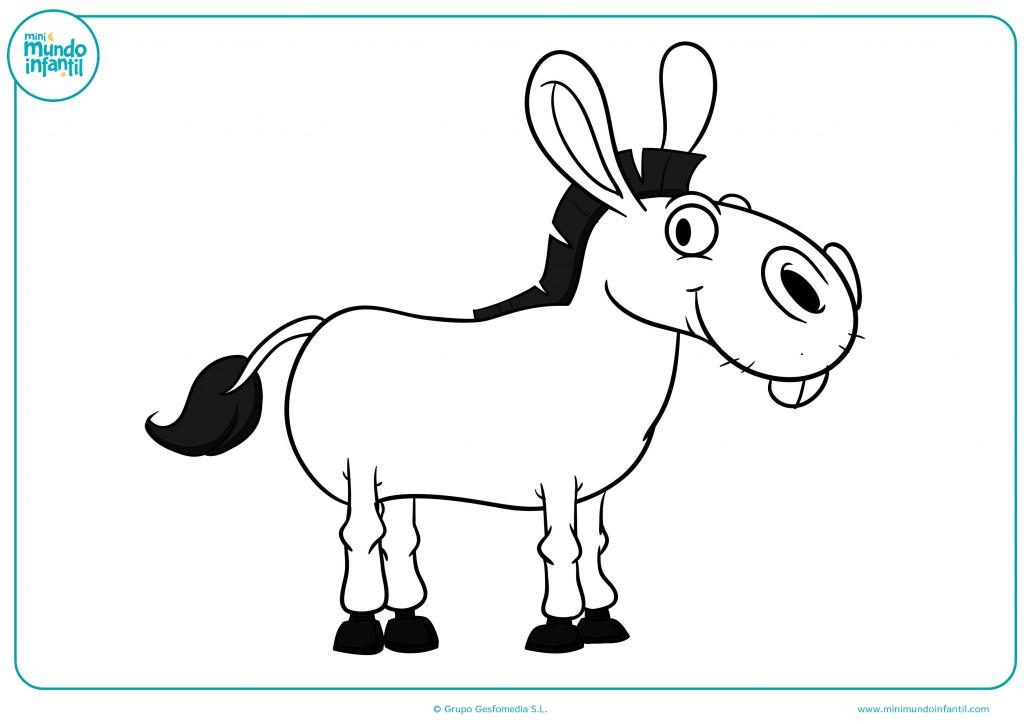 Con tus colores pinta el burro orejón de cola negra