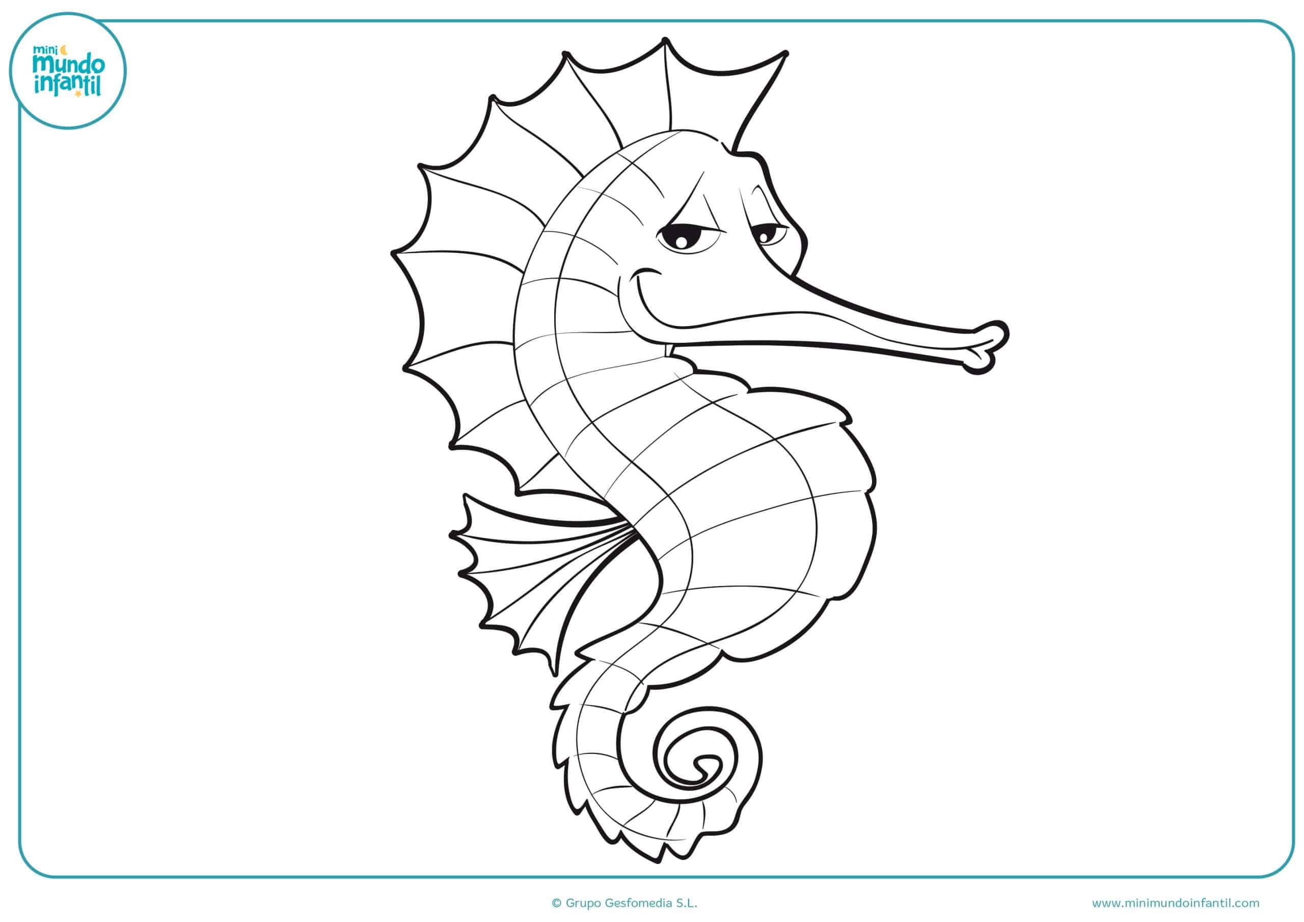 Dibujos animales marinos colorear