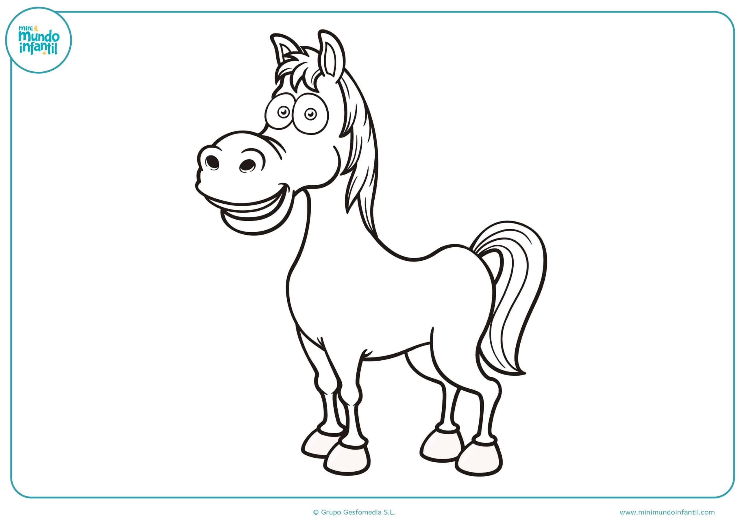 Dibujos De Caballos Para Colorear A Lápiz Y Para Niños