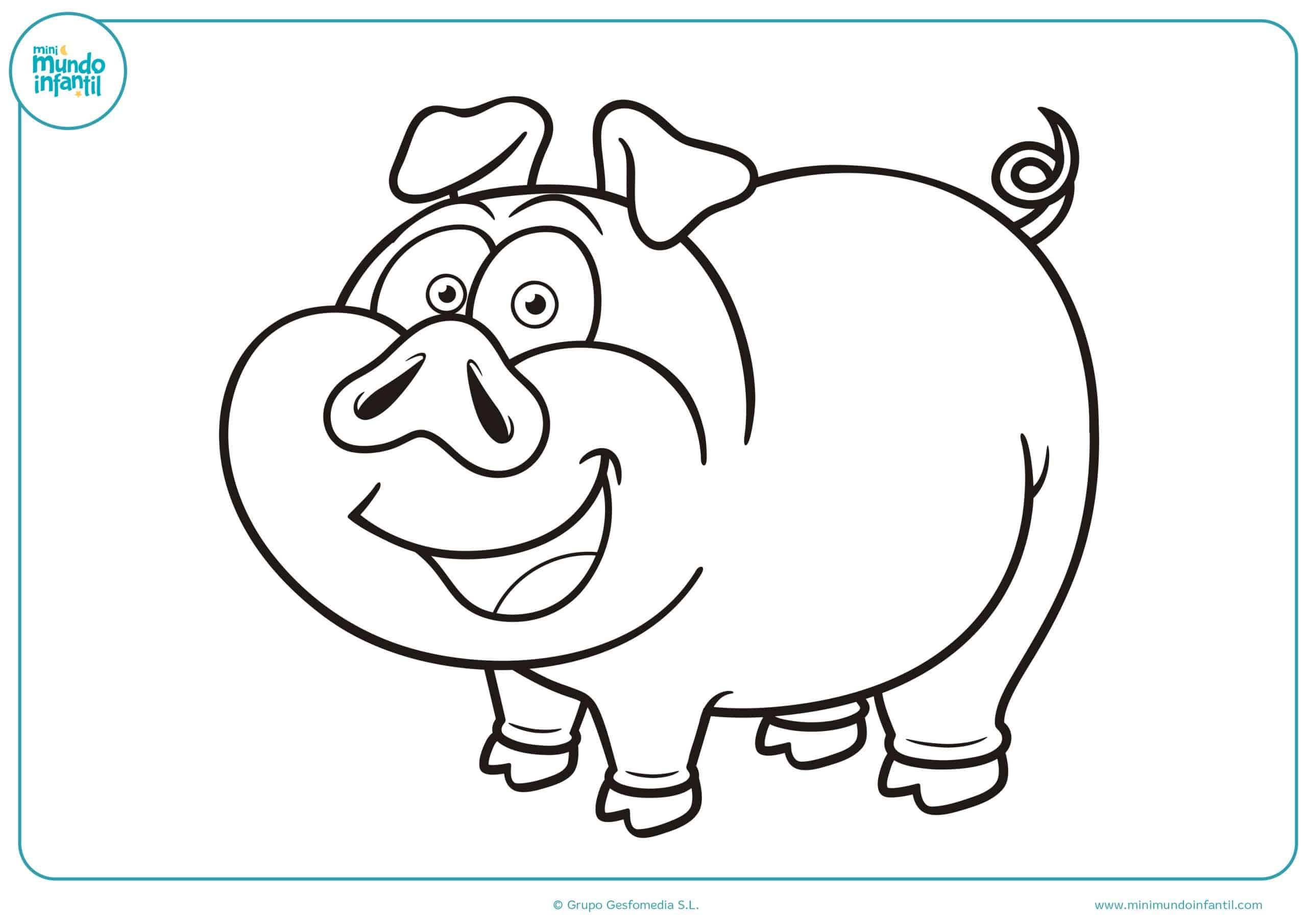 Dibujos colorear animales granja niñas