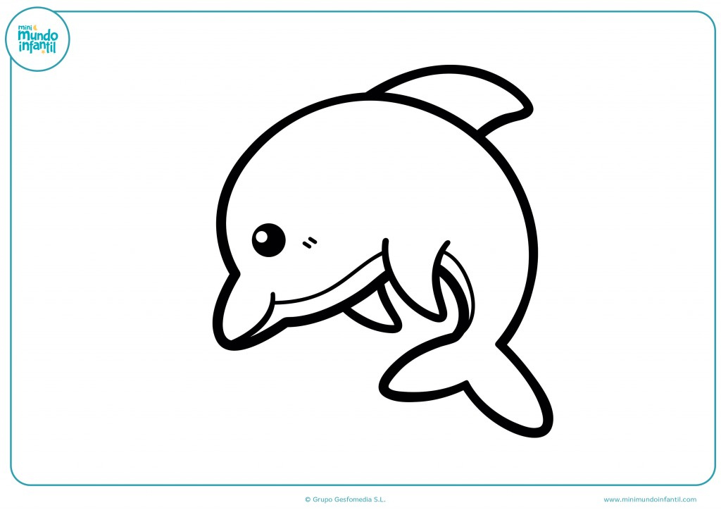Descarga la imagen del delfin y con mucho cuidado coloréala