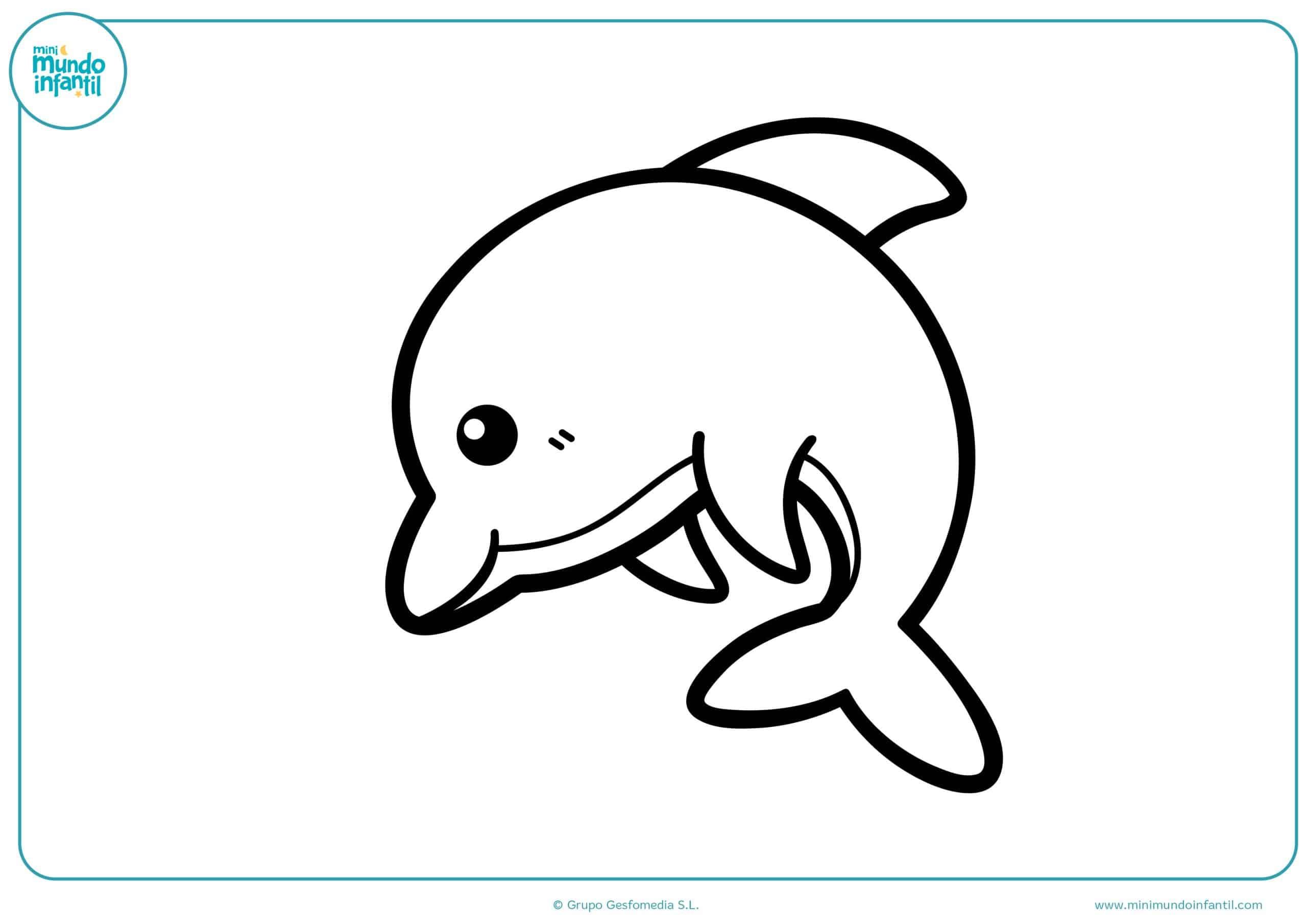 Dibujos de delfines para colorear - Mundo Primaria