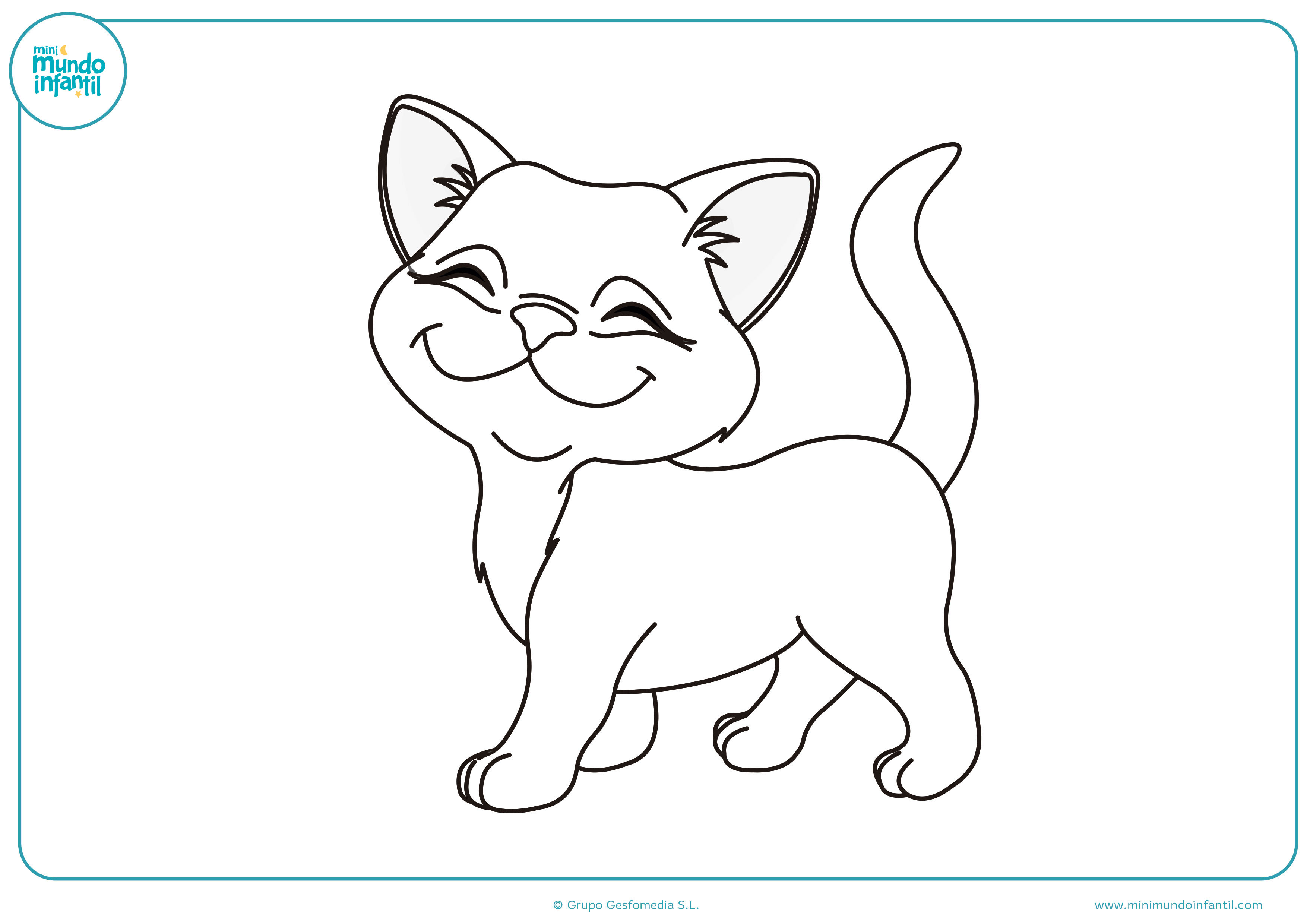 Dibujos De Gatos Para Imprimir Y Colorear Mundo Primaria
