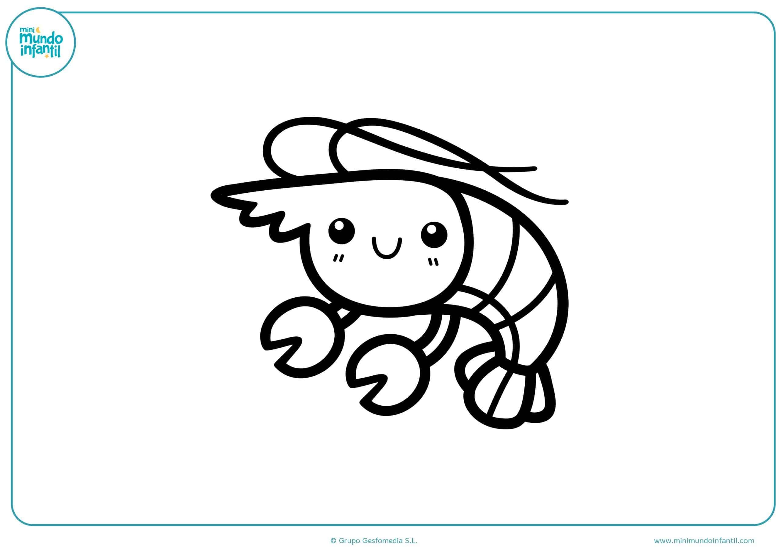 Dibujos animales marinos colorear para imprimir