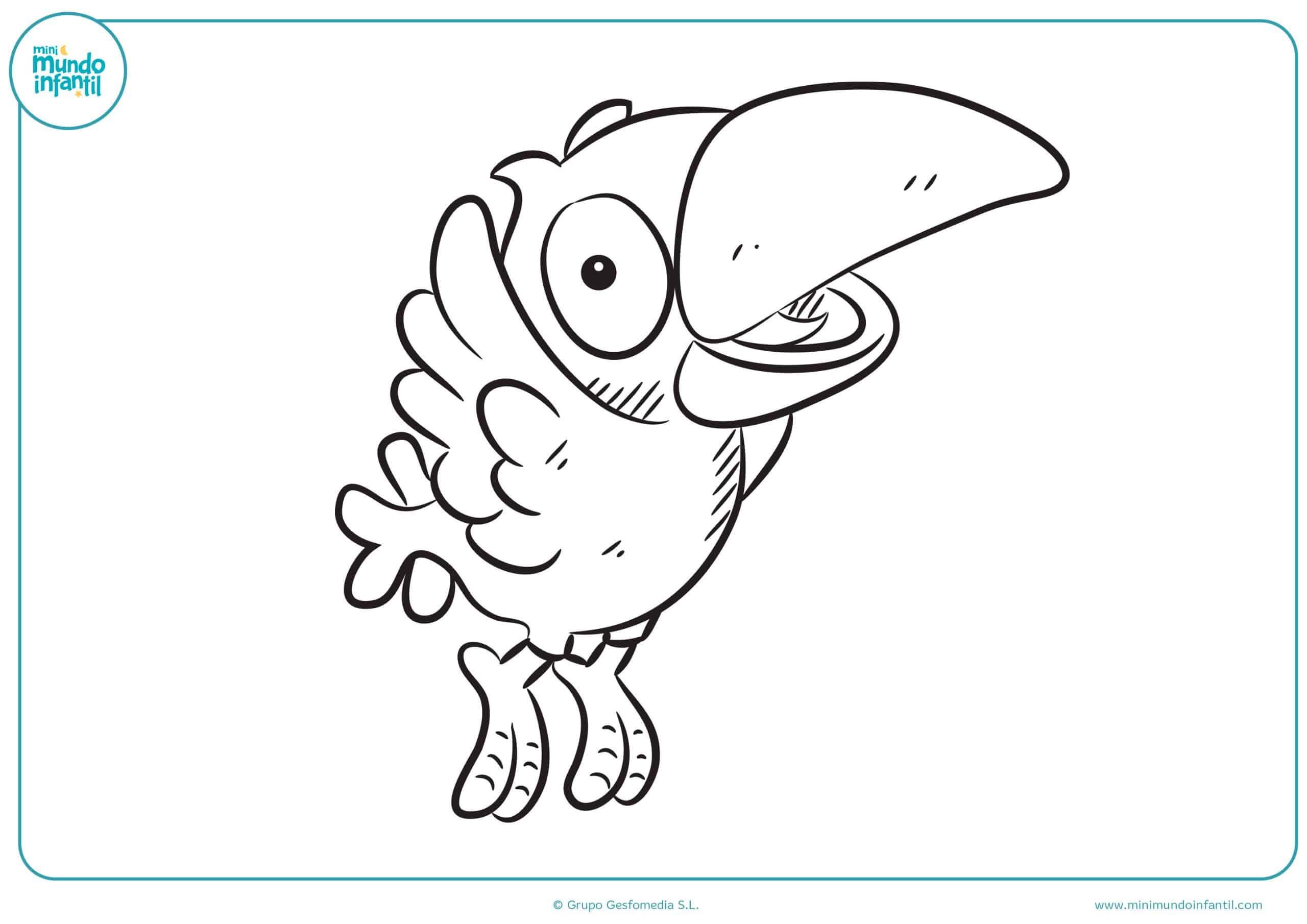 Dibujos colorear aves niñas