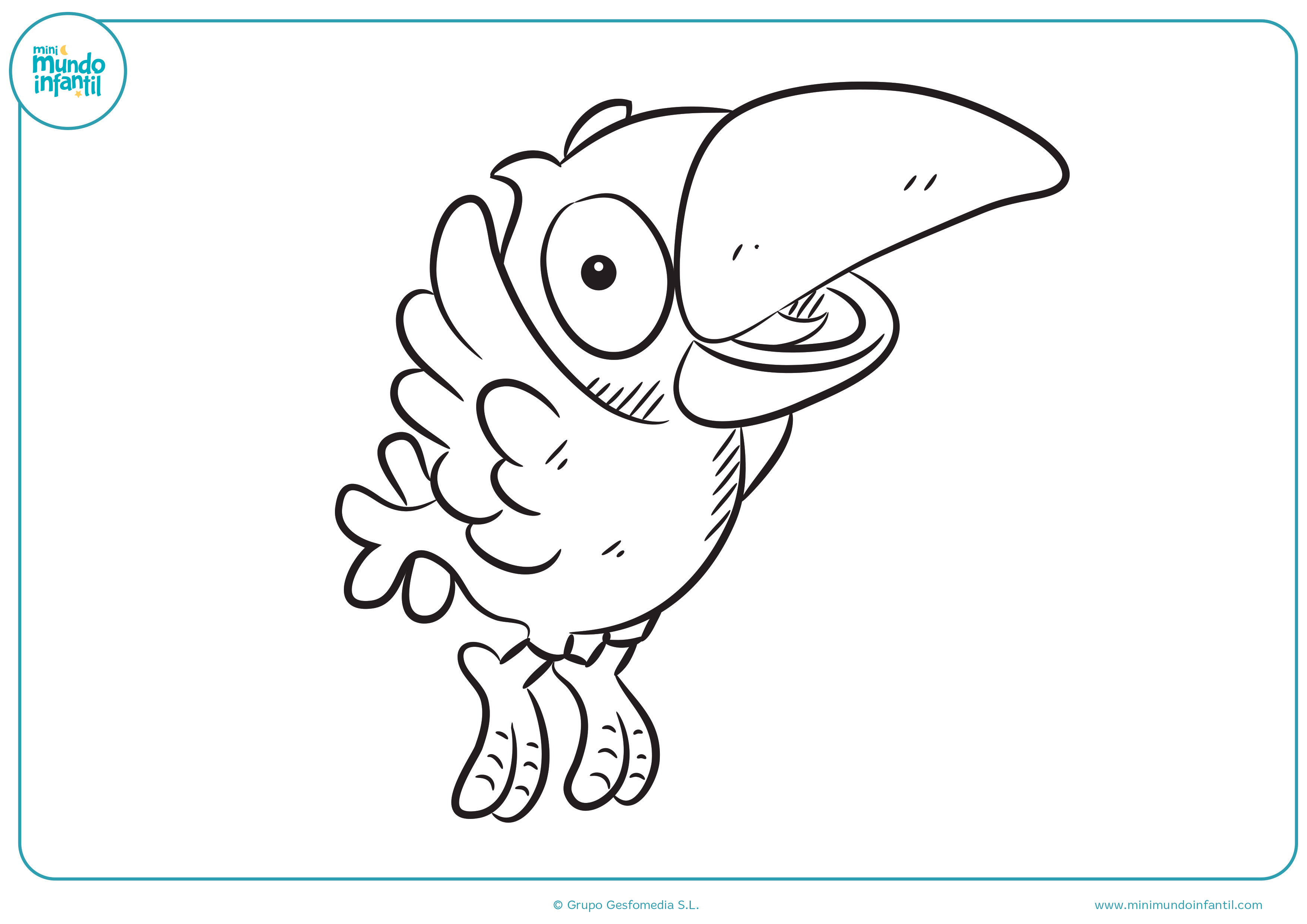 Desenho De Casas Dibujos De Aves Para Colorear Mundo Primaria