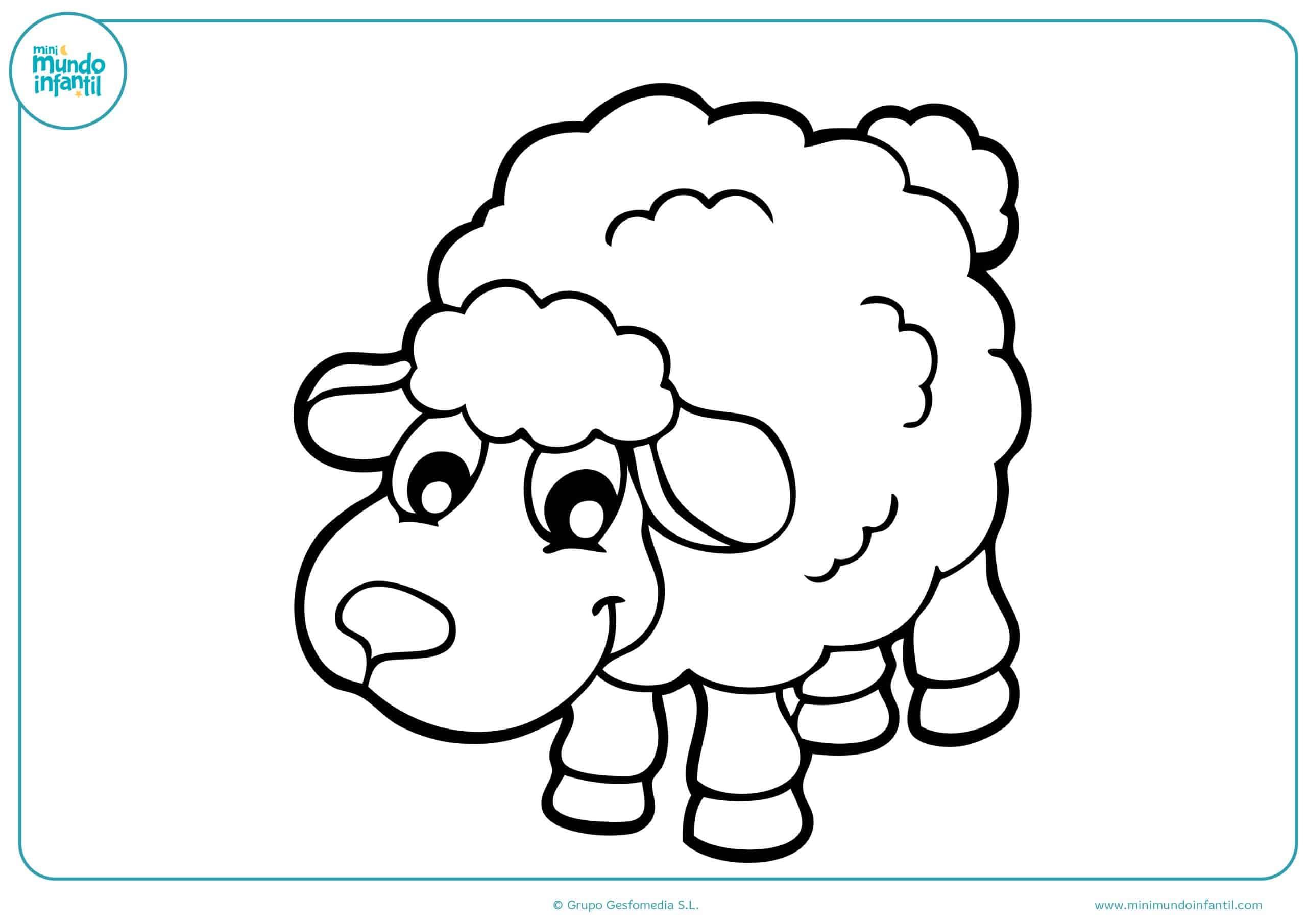Dibujos animales granja para pintar