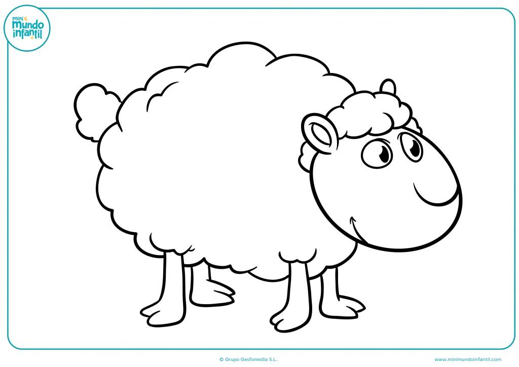 Pinta las patas y la cara de la oveja con colores