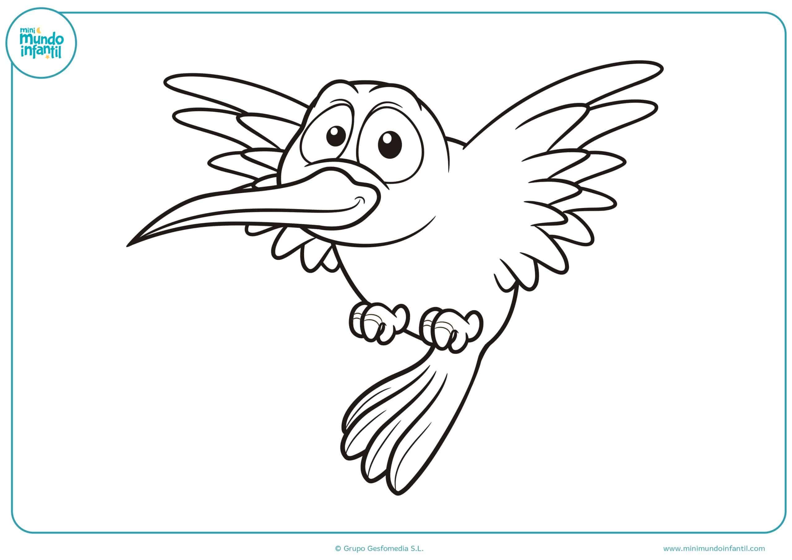 Dibujos aves colorear para imprimir