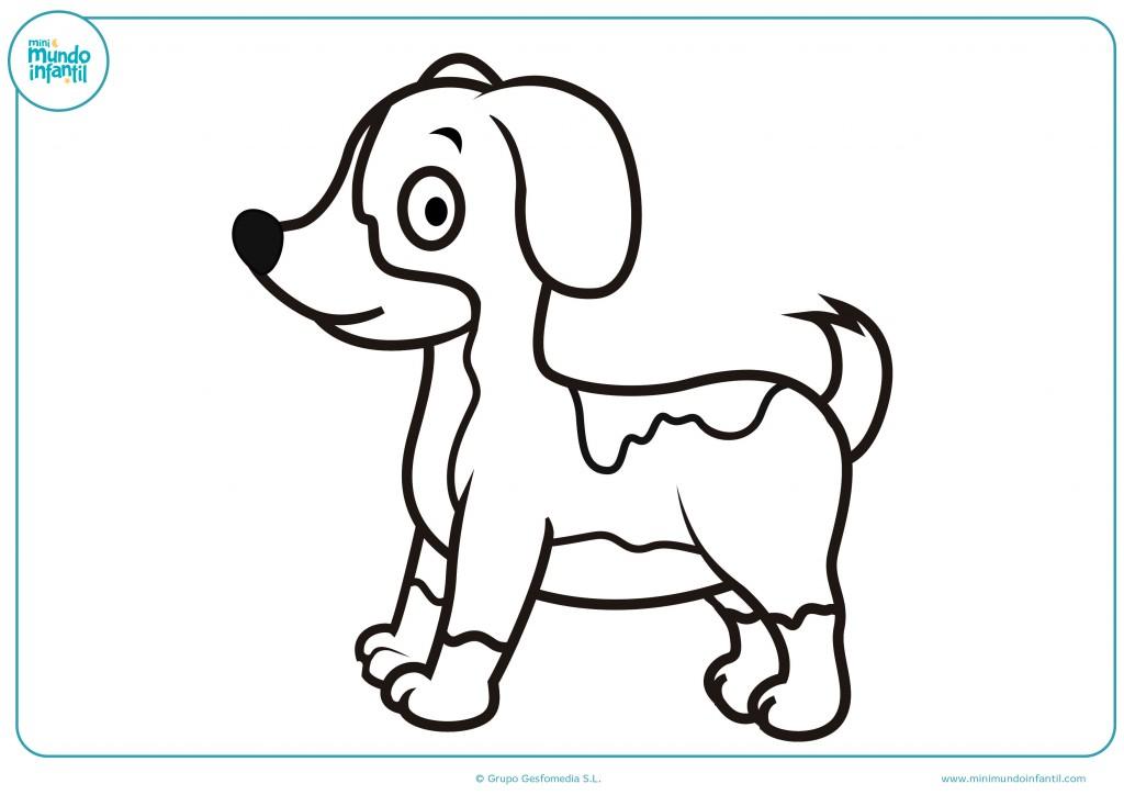 Pinta con colores el perro de juguete y completa el dibujo