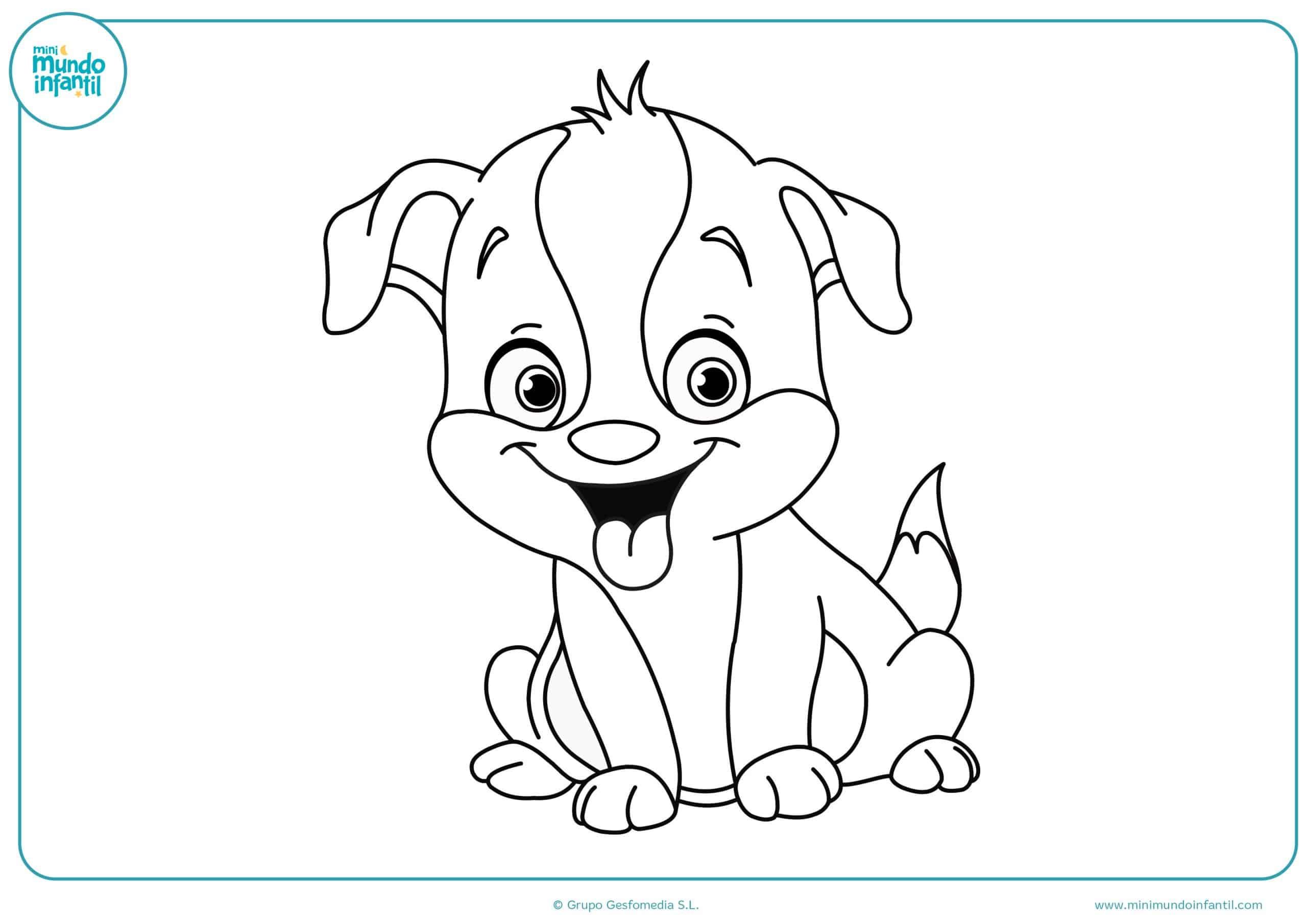 Dibujos De Perros Para Colorear A Lápiz Y Fáciles